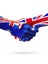Flags Australia, United Kingdom countries, partnership friendship, national sports team Royalty Free Stock Photo