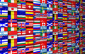 Flags background colorful of the world illustration Royalty Free Stock Photo