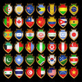 Flags-badges. Stock Image
