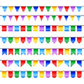 Flags banner with happy birthday