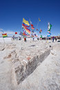 Flags in bolivia Royalty Free Stock Photo