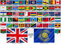 Flags of the commonwealth of nations formerly british an intergovernmental organisation member states that were mostly Royalty Free Stock Image