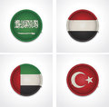 Flags of countries as fabric badges Royalty Free Stock Image