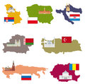 Flags and countries vector collection Royalty Free Stock Photography
