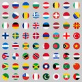 Flags of the countries of the world, a large set of flags of different countries. Royalty Free Stock Photo