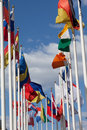 Flags of the different countries Royalty Free Stock Photo