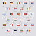 Flags of EU countries Royalty Free Stock Images