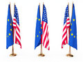 Flags of EU and the United State Royalty Free Stock Images