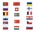 Flags of Europe Royalty Free Stock Photos