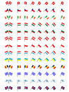 Flags of Europe 2 (No Coats of Arms) Stock Photography