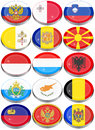 Flags of Europe Royalty Free Stock Photo