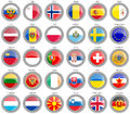 Flags of the Europe Royalty Free Stock Photo
