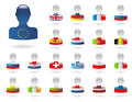 Flags of europe set part i Royalty Free Stock Photos