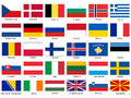 Flags of Europe Vector Set Royalty Free Stock Photography