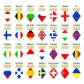Flags of European countries. Royalty Free Stock Photography