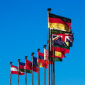 Flags of European countries Royalty Free Stock Image