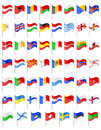 Flags of european countries vector illustration isolated on white background Stock Photography