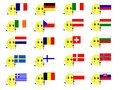 Flags of European states 1 Stock Photos
