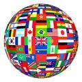 Royalty Free Stock Photo Flags globe