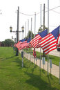 Flags at half staff Royalty Free Stock Photo