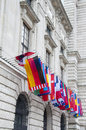 Flags on hofburg palace in vienna the imperial is the most representative example of vienna's characteristic variety of Royalty Free Stock Image