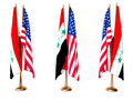 Flags of Iraq and the United State Stock Photography