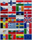 Flags and maps of European Union Royalty Free Stock Photos