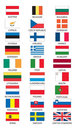 Flags of member states of Euro Royalty Free Stock Images