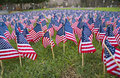 Flags memorial 1 Royalty Free Stock Photos
