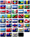 Flags of North America Royalty Free Stock Photo