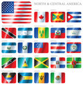 Flags North & Central America Royalty Free Stock Image