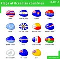 Flags of Oceania Stock Images