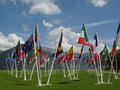 Flags of our world, Annecy, FR Royalty Free Stock Photos