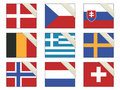 Flags with ribbons Royalty Free Stock Images