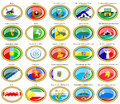 Flags of the Russian cities (Siberian Federal District).