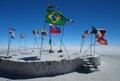 Flags on Salar de Uyuni