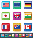 Flags set flag sets icon design great for websites or print Royalty Free Stock Photo