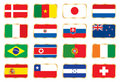 Flags set. Football World cup (groups E F G H) Royalty Free Stock Photo