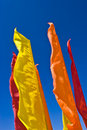 Flags skyline Royalty Free Stock Photo
