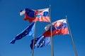 Vlajky Slovenska a Európskej únie