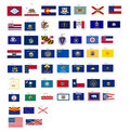 Flags of the states of USA with vector format Royalty Free Stock Photos