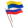 Flags ukr rus Stock Photo