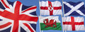 Flags of the United Kingdom of Great Britain Royalty Free Stock Photo