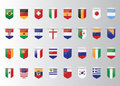 Flags vector of the world and map on white background Stock Image