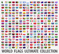 Flags vector of the world Royalty Free Stock Photo