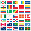 Flags of the world 1 of 8 Royalty Free Stock Photo