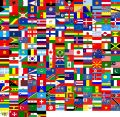 Flags of the world (240 flags) Royalty Free Stock Photo