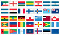 Flags of the world 3 of 8 Royalty Free Stock Photo