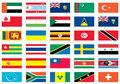 Flags of the world 7 of 8 Royalty Free Stock Photo