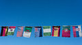 Flags of the world on a banner